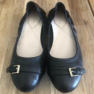 Cole Haan Leather Black Ballet Flats